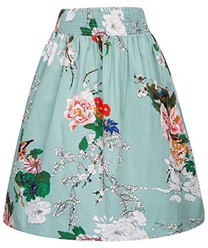 50s falda del partido de la roca señoras faldas festivas a la rodilla una falda de línea L KK844-2