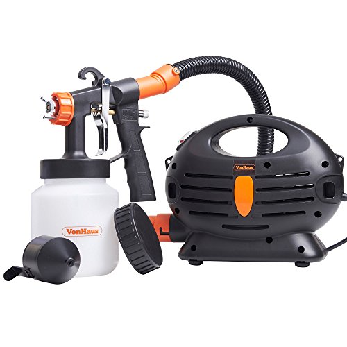 VonHaus 850W Paint Sprayer Corded Electric with Hose | 900ml Paint Container For Painting, Varnishing, Lacquering | Eliminate need for Rollers | High Volume Low Pressure Test