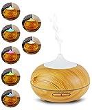 Aroma Diffuser mit 300 ml  Luftbefeuchter und Ultraschallvernebeler - Raumduft verbesserung für Wohnung, Büro, Yoga etc. Die Duftlampe für Aromatherapie und Luftbefeuchtung  My1St
