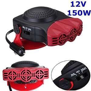audew 12v 150w 2 en 1 voiture ventilateur refroidissement chauffage ceramique fiche. Black Bedroom Furniture Sets. Home Design Ideas