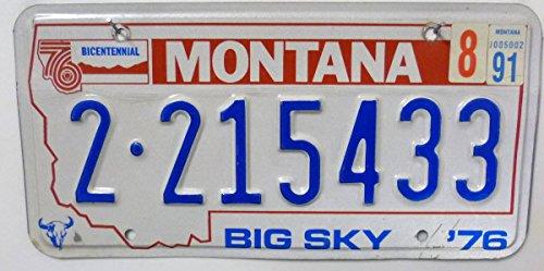 US Nummernschild MONTANA Autokennzeichen USA # Big Sky # Blechschild
