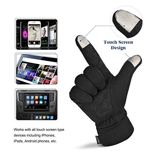 Vbiger TouchscreenHandschuhe Sport Handschuhe Trainingshandschuhe Rutschfest Handschuhe Vollfingerhandschuhe Trainingshandschuhe - 2