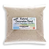 Roccia 3 Pounds - Real Sand - Natural Color - for Interior Decor, Vase Filler, Sand Crafts, Nautical Theme Design, and More