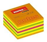 Kores Haftnotizen Cubo, 75 x 75 mm, 450 Blatt, orange/gelb/grün/pink