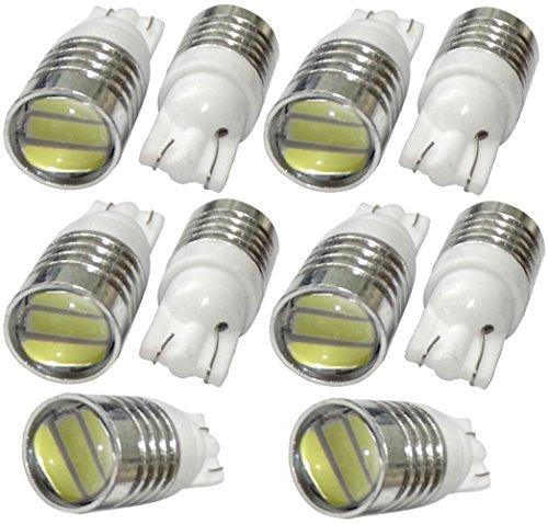 AERZETIX: 10x Ampoule T10 W5W 12V 3LED SMD Blanc Effet xénon veilleuses éclairage intérieur seuils de Porte plafonnier Pieds Lecteur de Carte Coffre C14092