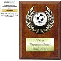 Placa de Madera Personalizable de fútbol (3 tamaños), 130 mm