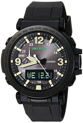Casio Men's 'PRO TREK' Quartz Resin and Silicone Casual Watch, Color:Black (Model: PRG-600Y-1CR)