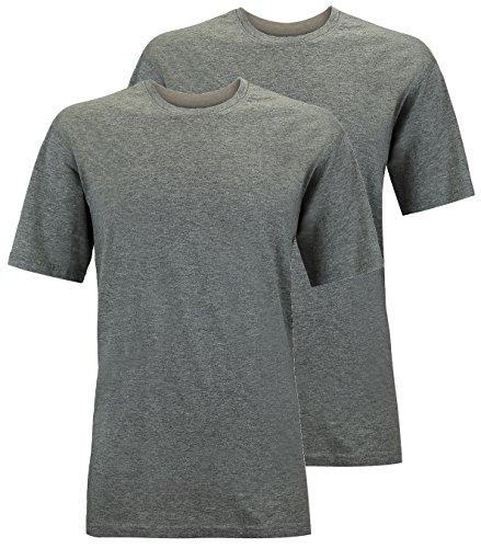 Redfield T-Shirt Doppelpack Rundhals XL - 10XL schwarz, blau, weiß, grau melange, grau anthrazit Grau Anthrazit