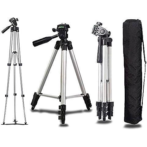 Portátil Universal Aluminio Trípode Soporte & Bag Para Canon Nikon Cámara Digital Videocámara