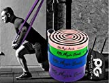 Physix Gear Pull Up Assist Bands - Best Heavy Duty Resistance Band for Assisted Pullups, Muscle Toning, Legs Glutes Crossfit Physical Therapy Stretch Pilates & Yoga - Improve Mobility & Strength -4SET - 3
