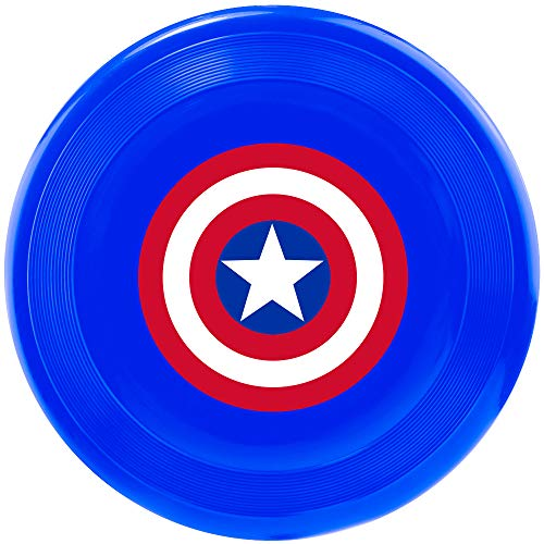 Buckle Down Pet Toy Frisbee - Captain America Shield Blau/Rot/Weiß (Captain America Pet Kostüm)