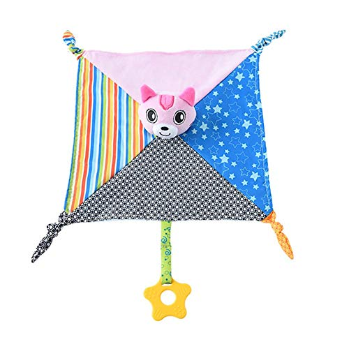 Pinfect 29x29cm Baby Infant Velvet Appease Towel Soft Teether Sleeping Toy (Cat)