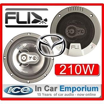 Saab 9.3 Front Door Speakers Fli Audio car speaker set 210W