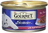 Gourmet Solitaire Beef In Tomato Sauce, 85g - Pack of 12