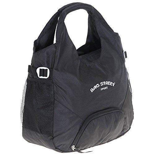 imppac Sporttasche, Reisetasche schwarz Synthetik mit extra Schuhfach Bag Street OTJ226S, ohne, Schwarz