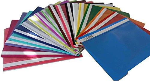 18 Schnellhefter A4 verschiedene Farben PP-Folie transparentes Deckblatt