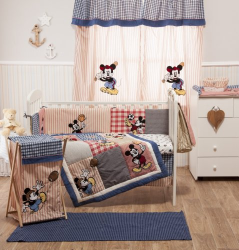 Baby Bedding Design Disney Mickey Play Ball Bedding Collection 4 Pc Crib Bedding Set
