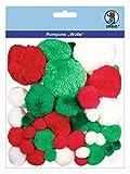 Ursus 39540009 - Pompons Wolle, 45 Stück sortiert in verschiedenen Größen und Farben
