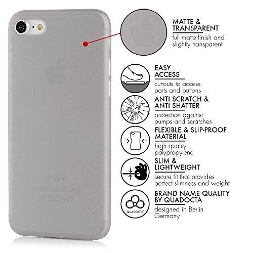 """Hülle für iPhone 8 Plus (5,5"""") Ultra Thin Case Bombyx - Leicht transparente extrem dünne Tasche für Apple iPhone 8 Plus Schutzhülle Slim Bumper Cover in schwarz von QUADOCTA - Idealer Schutz für Gold  Grau"""