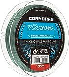 Cormoran Schnur 135 m Spule 0.18 Stärke Corastrong Geflochten aus Coramid, Grün, 32-013518