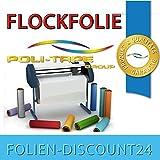 (EUR 25,80 / Quadratmeter) FLOCKFOLIE TbT 310 ICE BLUE BÜGELFOLIE TOP ! Preistip Flex Flock 1 M x 50 cm POLITAPE