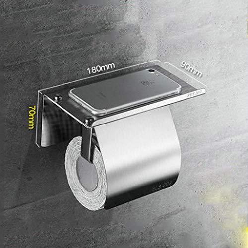 Edelstahl Papierhandtuchhalter Edelstahl Papierhandtuchhalter Handyhalter Toilettenpapier Box wasserdicht, größere Basis Spiegel Stil -