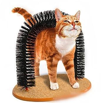 Petbox® Massage à chat grattoir pour animal domestique Arch Self Toilettage tondeuse Poils doux confortable Rayures Play Nip Animal