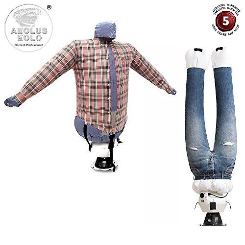 Eolo stiracamicie e pantaloni sa04 inox asciuga e stira in automatico camicie camicette felpe polo pantaloni jeans ... rinfresca abiti con aria fredda stirasciugatore made in italy garanzia 5 anni
