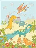 POSTERLOUNGE Wood print 100 x 130 cm: Fallen Kingdom of Dinosars by Petit Griffin