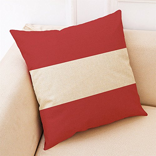Aiserkly 45x45 cm Home Decor Kissenbezug rot geometrische Wurfkissenbezug Kissenbezüge - Wildleder-kissen-set