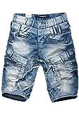 Cipo & Baxx Herren Jeans Shorts Bermuda CK182 (31, Blau)