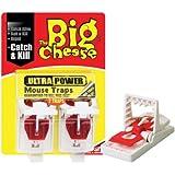 Big Cheese Ultra control de plagas Poder ratón Trampas Twinpack-