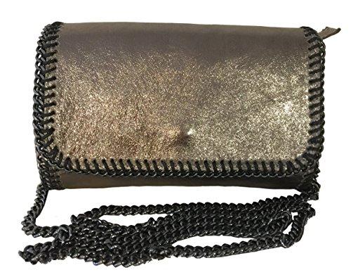 Fashion - Borsa a tracolla Donna oro metallizzato
