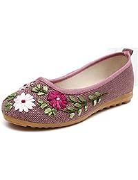 CHNHIRA Neu Damen Old Beijing China National Schuhe(EU 36 Beige)