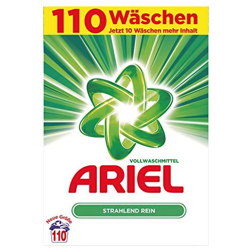 Ariel Vollwaschmittel Pulver Strahlend Rein, 7,15kg- 1er Pack (1 x 110 Waschladungen)