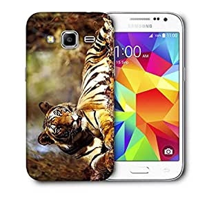 Snoogg Croaching Tiger Printed Protective Phone Back Case Cover For Samsung Galaxy CORE PRIME