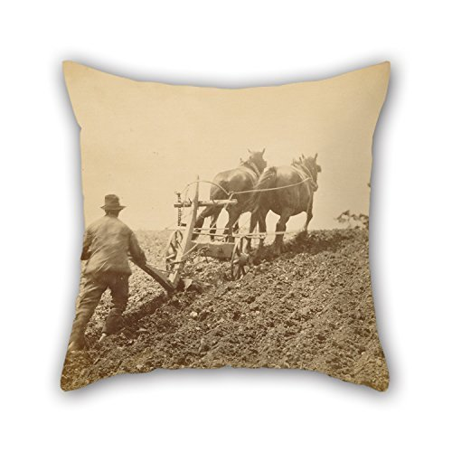 beautifulseason Oil Painting Peter Henry Emerson (British, Born Cuba - 'A Stiff Pull' Pillowcase 20 X 20 Inches/50 by 50 cm Gift or Decor for Office,Kids Girls,Bar,Saloon,Study Room,Girls - Twin