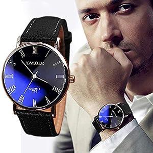 Herren Uhren Wasserdicht Luxus Mode Kunstleder Quarz Beiläufige Geschäfts Armbanduhr Uhr für Ehemann Groveerble