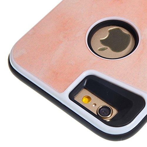 iphone 6S 4.7 Custodia, iphone 6 Silicone Cover, Ekakashop Moda Lusso Marmo Modello Disegno PC & TPU 2-in-1 Epoxy Mestieri Morbido Rigida Cassa del telefono per iphone 6S 3D Gel Silicone Gomma Cover, 2-in-1--Arancione