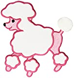 Wright\'s 5 1/2 x 4 3/4-inch Fifi and Gigi Poodle Iron-On Applique, Pink
