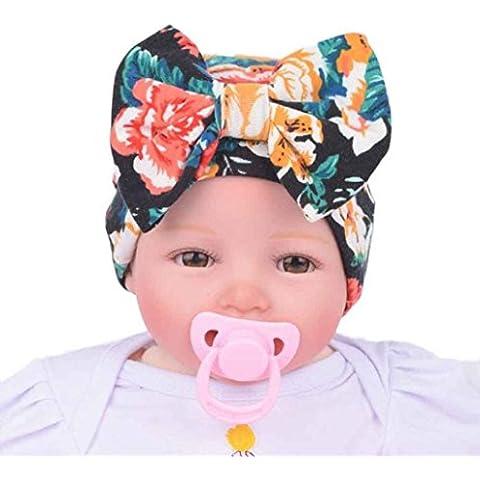 Sannysis Sombreros y gorras bebe niña, sombreros con arco nudo de flor