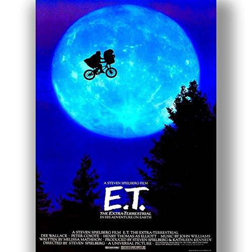 Box Prints E.T. Film Vintage Retro-Stil Poster Kunstdruck schwarz weiß gerahmte Bild klein groß -