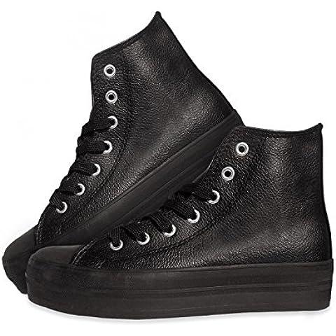 Zapatos modelo FRANKY de cuero con plataforma de 3,5 cm mws1947