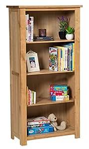 Waverly Oak Large Bookcase Adjustable Shelves In Light Oak Finish U0026 Ample  Storage Space 150cm