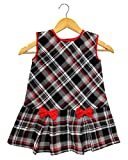 #10: GOODWILL Girl's Casual Wear Black&White Check Cottswool Frock