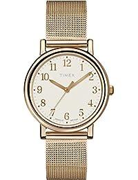 Timex Damen-Armbanduhr XS Originals Classic Round Analog Quarz Messing T2P463