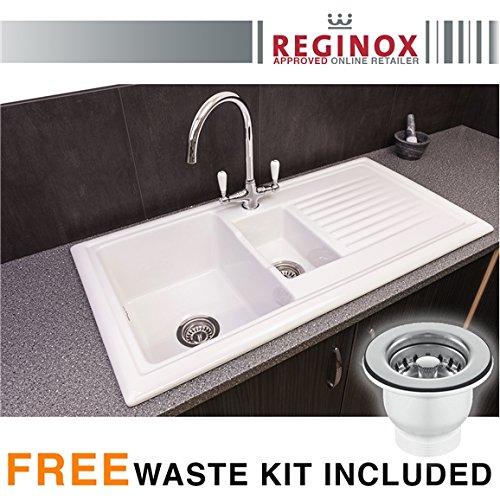 reginox-rl301cw-15-bowl-white-ceramic-reversible-kitchen-sink-waste