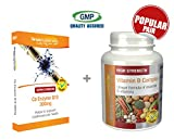 Co-Enzyme Q10 300mg 60 Capsules + Vitamin B Complex 120 Tablets   May help maintain healthy heart and energy   100% money back guarantee   Manufactured in the UK by Simply Supplements