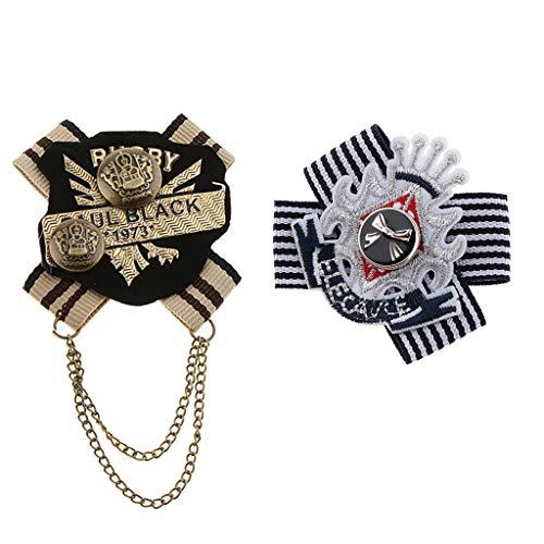 Sharplace 2 Stück Retro Brosche Abzeichen Kleidung Mode Kostüm Brosche Pin Anstecknadeln Herren & Damen Geschenk Schmuck