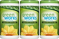 GreenWorks Compostable Cleaning Wipes, Original, 186 Count